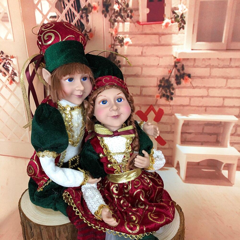 ABXMAS Christmas Elves Plush Elf Doll Xmas Decoration Children Toys Navidad New Year Gifts Kids Tree Hanging Ornaments