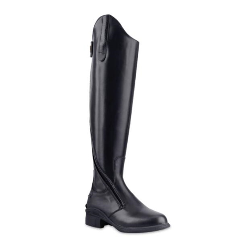 Cavassion Equestrian Oblique Zipper Boots Horse Riding Equipment Unique Design Exquisite Gloss Cowhide Leather