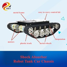 TS100 Stoßdämpfer Metall Roboter Tank Auto Kit Chassis für Arduino uno r3 raspberry verfolgt crawler raupe suspension system