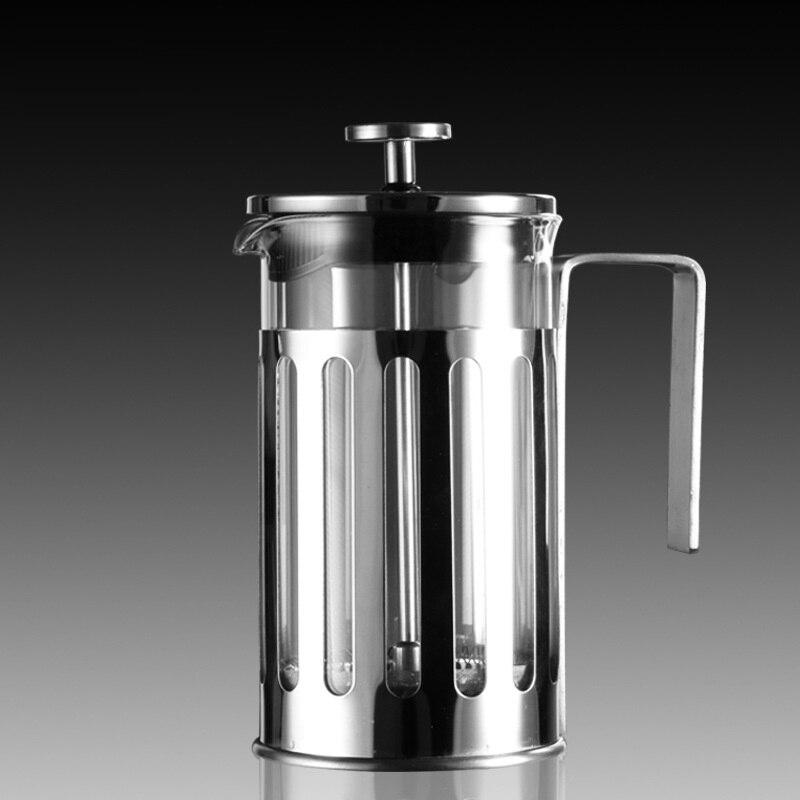 1 قطعة مرشحات القهوة القهوة عالية الجودة الزجاج ماكينة إعداد الشاي ارتفاع درجة الحرارة إبريق قهوة وعاء ضغط الزجاج مع إطار إينوكس