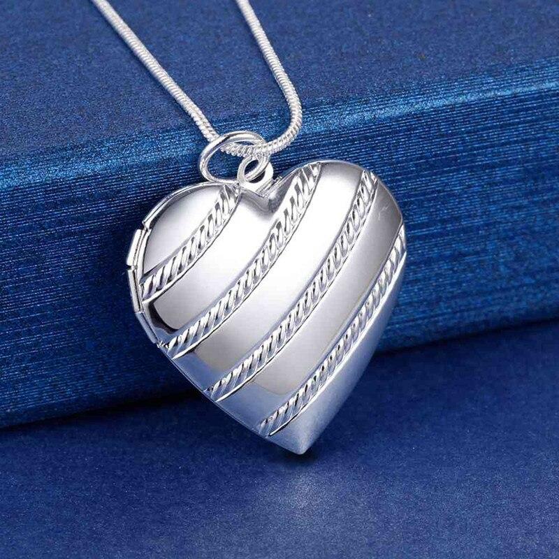 Горячая-925-стерлингового-серебра-ожерелье-для-женщин-18-дюймов-сердце-кулон-фоторамка-модные-вечерние-ювелирные-изделия-для-девушек-подарк