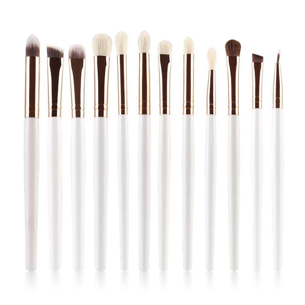 Pinceaux de maquillage professionnels fard à paupières poudre brosse ensemble pinceaux de maquillage cosmétique outil laine brosse tête brosse à paupières ensemble