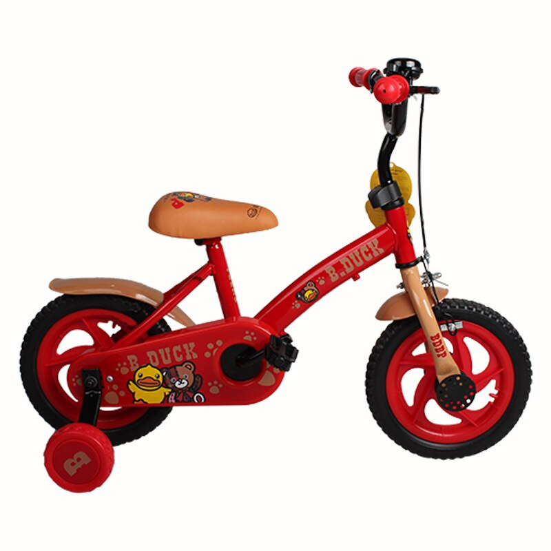 LUDDY B.duck Little Yellow Duck Children's Bicycle 12-inch Four-wheeled Bicycle 2-5 Years Old Children's Bicycle enlarge