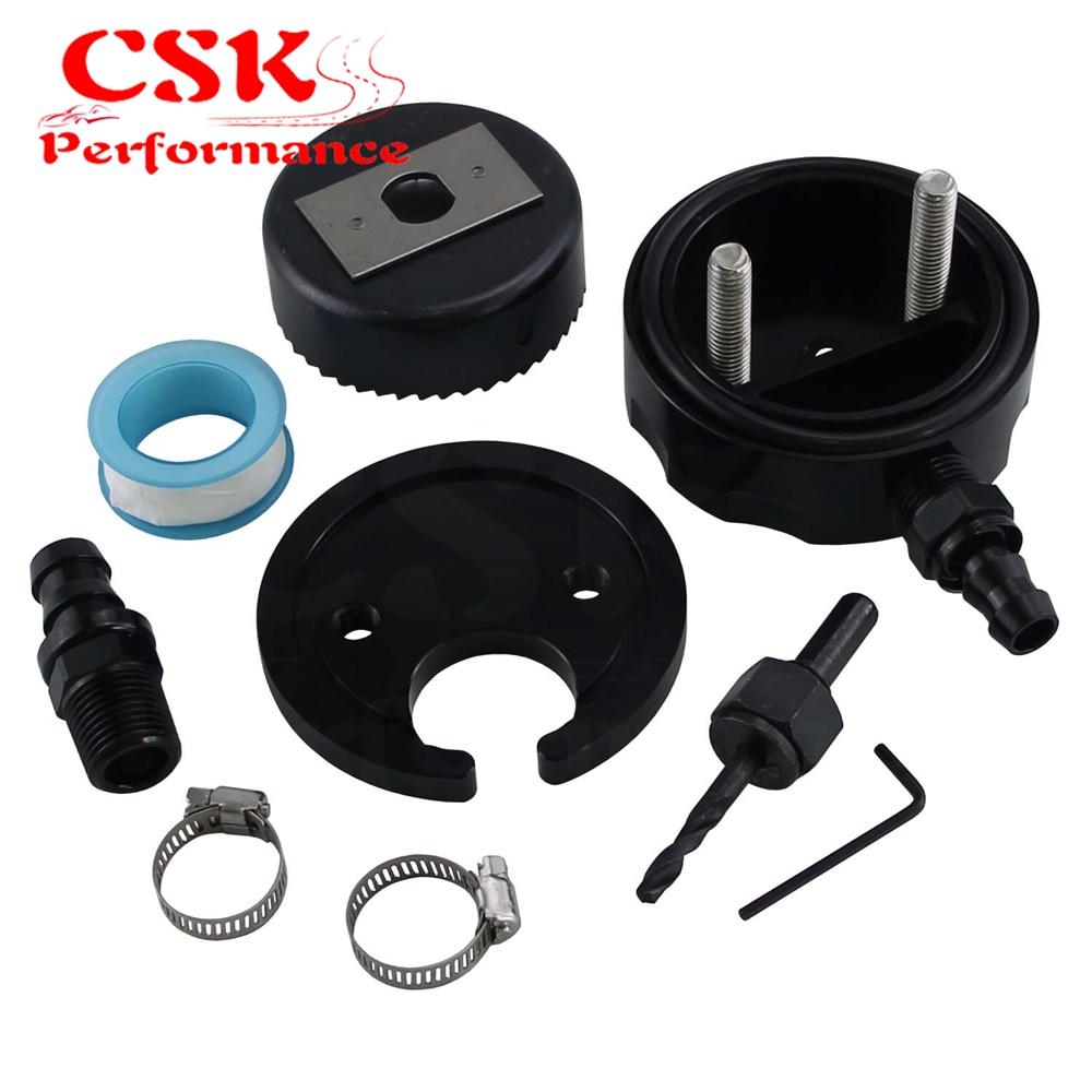 Tanque de combustible Diesel recogida/sumidero Kit w/sierra perforadora para Cummins Powerstroke Duramax