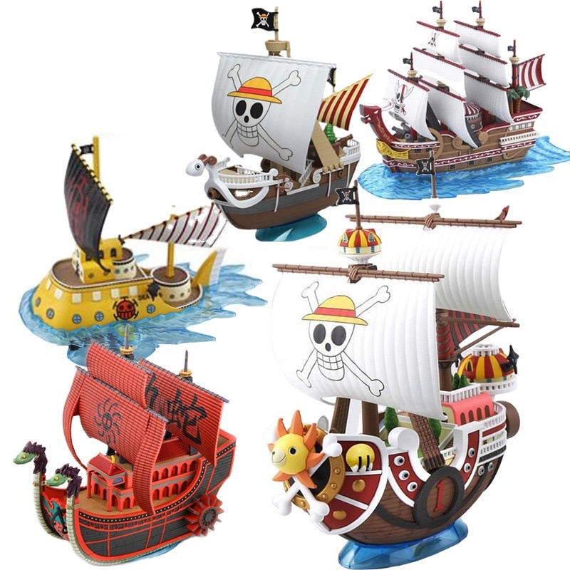 Anime One Piece figure toys Thousand Sunny Pirate Ship Boat Model PVC Action Figure boxed Collection Model Toy 15cm anime one piece figure combat version marshall d teach figure toys collection pvc action figure one piece toys model gifts