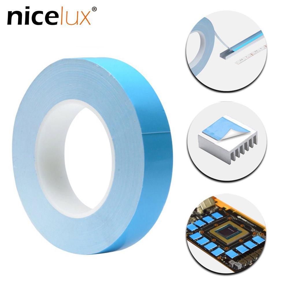 25meter/Rolle 8mm 10mm 12mm 20mm Breite Transfer Band Doppel Seite Thermische Leitfähigen Klebstoff band für Chip PCB Led-streifen Kühlkörper