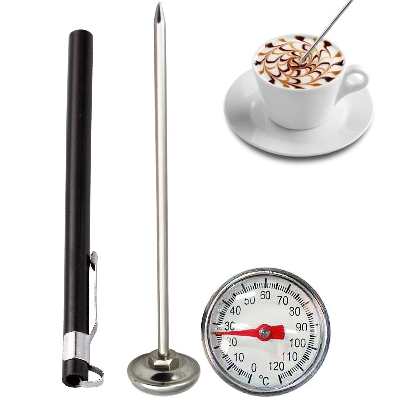 1PCs Stainless Steel Probe Thermometer Instant Read Kitchen Food Cooking Milk Coffee Meat BBQ Safely Household Thermometers