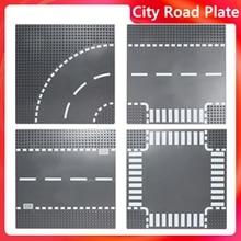 Baseplate Classic City Road Plate Street traffic light Bricks Base Plates Building Blocks mini model city signal lamps toys