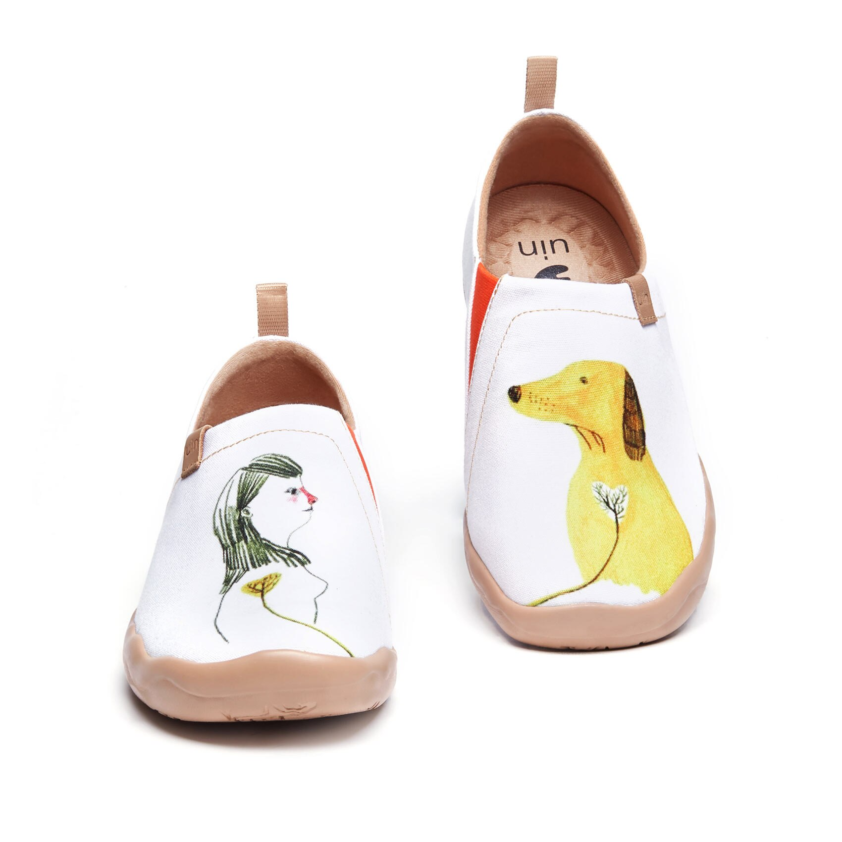 UIN-أحذية رياضية نسائية خفيفة الوزن سهلة الارتداء ، أحذية مشي ، أحذية سفر ، أحذية بدون كعب لطيفة