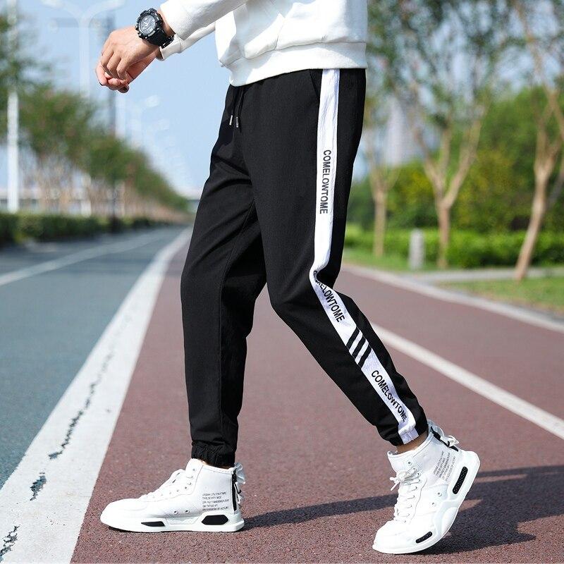 Мужские новые спортивные штаны 2021 штаны-шаровары повседневные штаны с эластичной резинкой на талии модные мужские брюки уличная Джоггеры д...