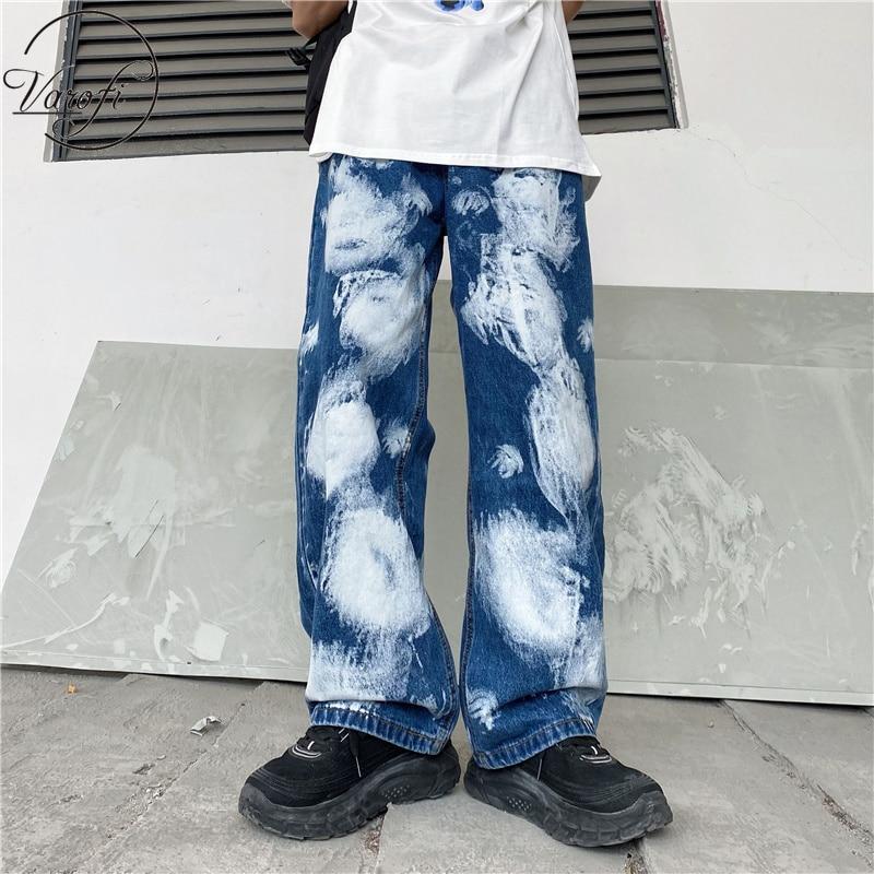 Varofi 2021 women's loose jeans large jeans Y2K jeans women's hip hop Street jeans women's high waist jeans