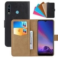 luxury wallet case for tecno camon 12 pu leather retro flip cover magnetic fashion cases strap