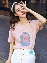 summer Vogue Streetwear Women Fashion funny Cartoon pink Tops Korean style Harajuku Aesthetic kawaii princess Anime tshirt
