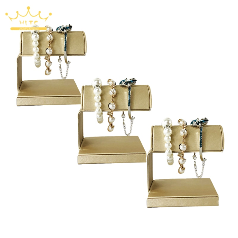 Gold Leather Bracelet Jewelry Holder Rack Bead Chain  Anklet  Watch Jewelry Display Storage Stand fo