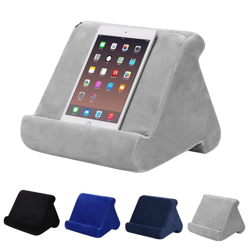 Soporte de almohada para tableta, soporte de libro, apoyo de lectura, cojín para cama de hogar, sofá, almohada suave multiángulo, soporte de solapa