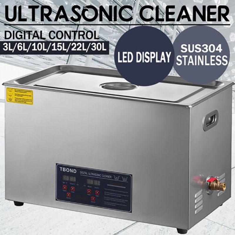 3L - 22L New Ultrasonic Cleaner Equipment Industry Heated W/ Timer Heater Jewelry Glasses Watch Cleaning Machine Home Appliances