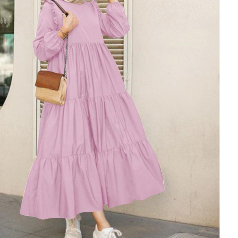 white lace details round neck short sleeves mini dress with lined Retro Round Neck Long Sleeve Spring Casual Dress With Ruffled Sleeves Pleated Hem Solid Color Round Neck Long Large Swing Dress