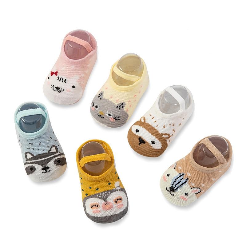 Носки для малышей носки для новорожденных мальчиков нескользящие носки для девочек повседневные хлопковые носки-тапочки для малышей демис...