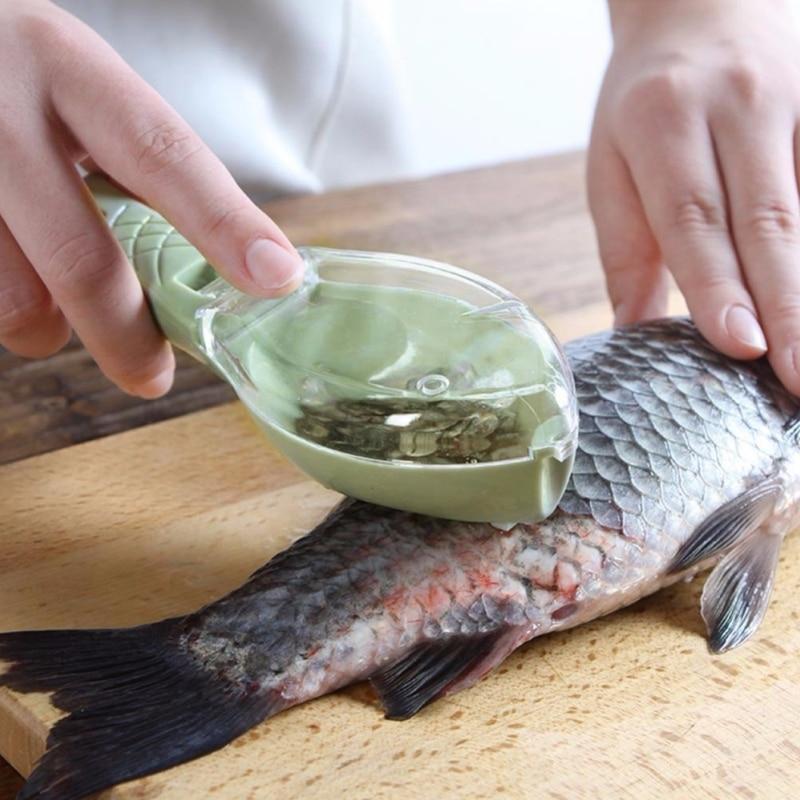 Fish Scaler Tool scraping Fish Scraper Cleaning Knife Remover Cleaner Kill Fish knife bone tweezers