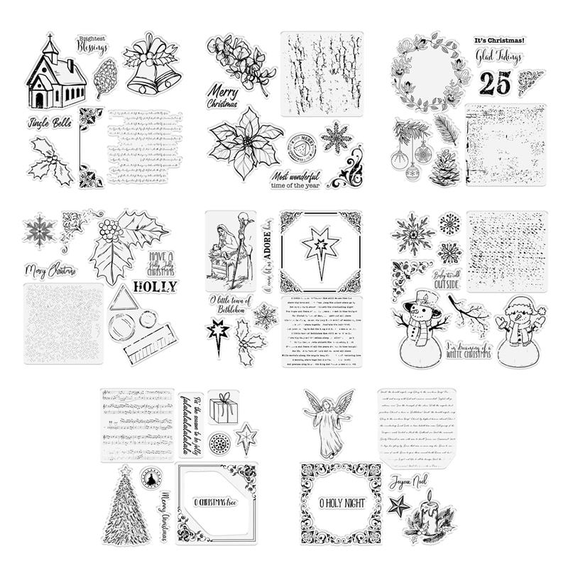 Christmas Decoration 2021 New Arrival Clear Stamps For Scrapbooking Paper Making Holiday Embossing Craft Card Transparent Seal