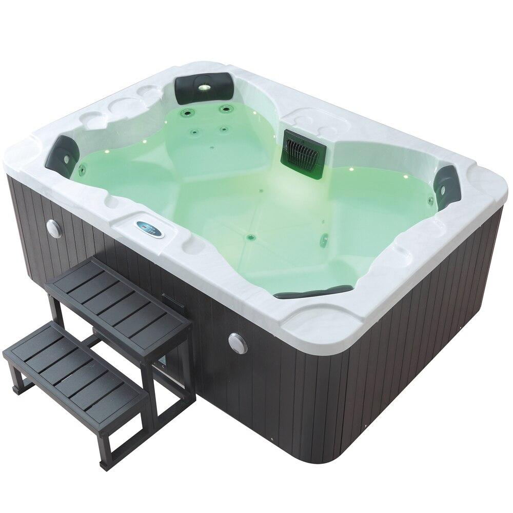 Bañera de hidromasaje para 4 personas, jacuzzi con calentador y filtro M-3372