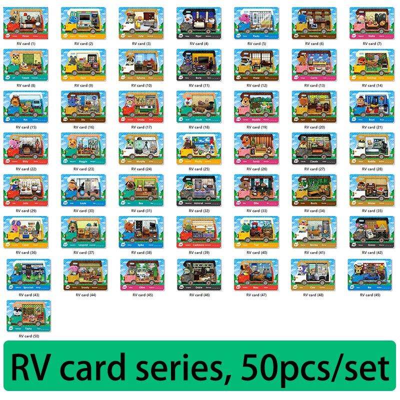 50 قطعة/المجموعة/المجموعة ورقة الحيوان معبر بطاقة amxxbo قروي أميبو Sanrioed RV بطاقة 1-50 NTAG215 NFC بطاقات