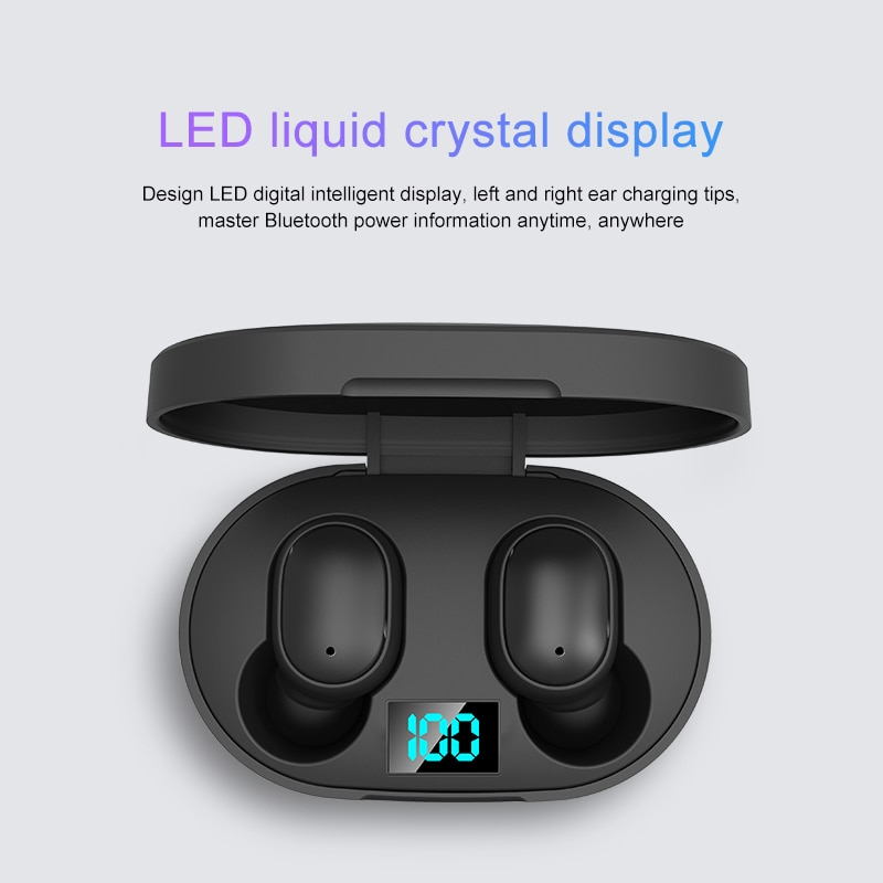 E6S TWS Bluetooth Earphone Wireless Headphones 5.0 LED Display Button Control Earbuds Waterproof Noise Cancelling Headset PK A6S enlarge