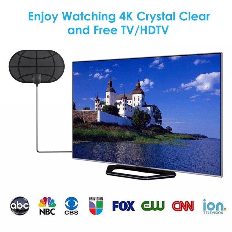 Mini antena HDTV ganancia de DVB-T2High HD TV caja DTV antena de TV Digital UE EUA enchufe Booster activo interior aéreo