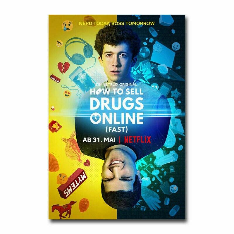 D0075 como vender drogas on-line rápida série tv tecido de seda poster arte decoração pintura interior presente