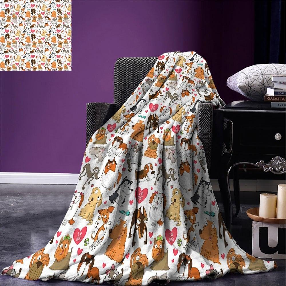 الكلب عاشق تصميم مخصص دافئ الفانيلا بطانية الكرتون الأنياب بولترر دوبرمان هاسكي الاسباني موضوع حب شخصيات مضحكة ضوء