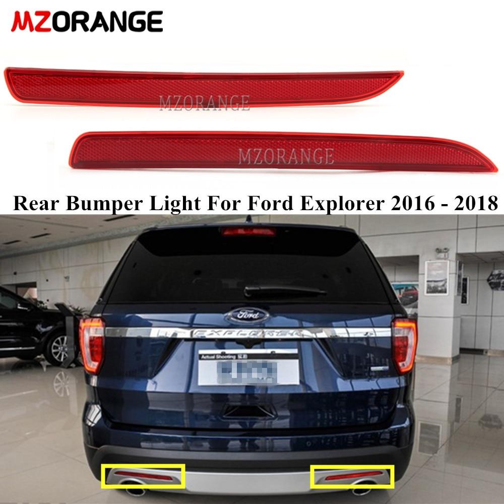 Parte trasera luz para parachoques Reflector de luz para Ford Explorer 2016 - 2018 de freno trasero de señal de vuelta de luz trasera sin bombilla estilo de coche
