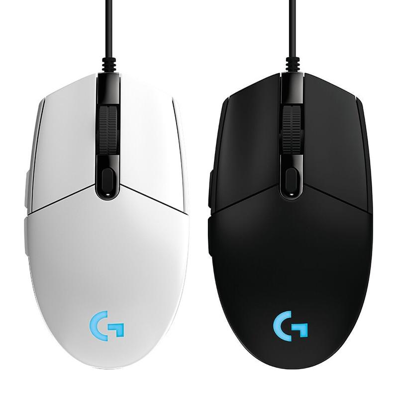 Logitech G102 przewodowa mysz do gier RGB kolorowe programowalne szybkie śledzenie Home Office napęd mysz G102 dla PUBG Myszy    -