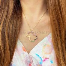 Women Fashion Zircon Necklaces Cute Bear Design Popular Pendants Two Colors Can Choose
