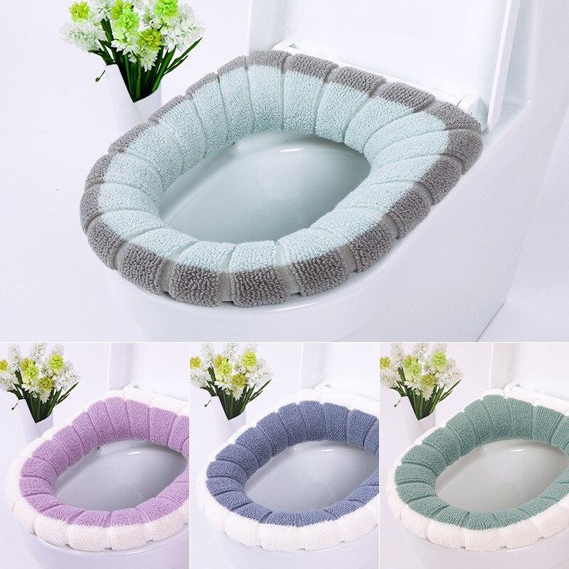 Cubierta Universal para asiento de inodoro, conjunto de alfombrillas lavables suaves y...