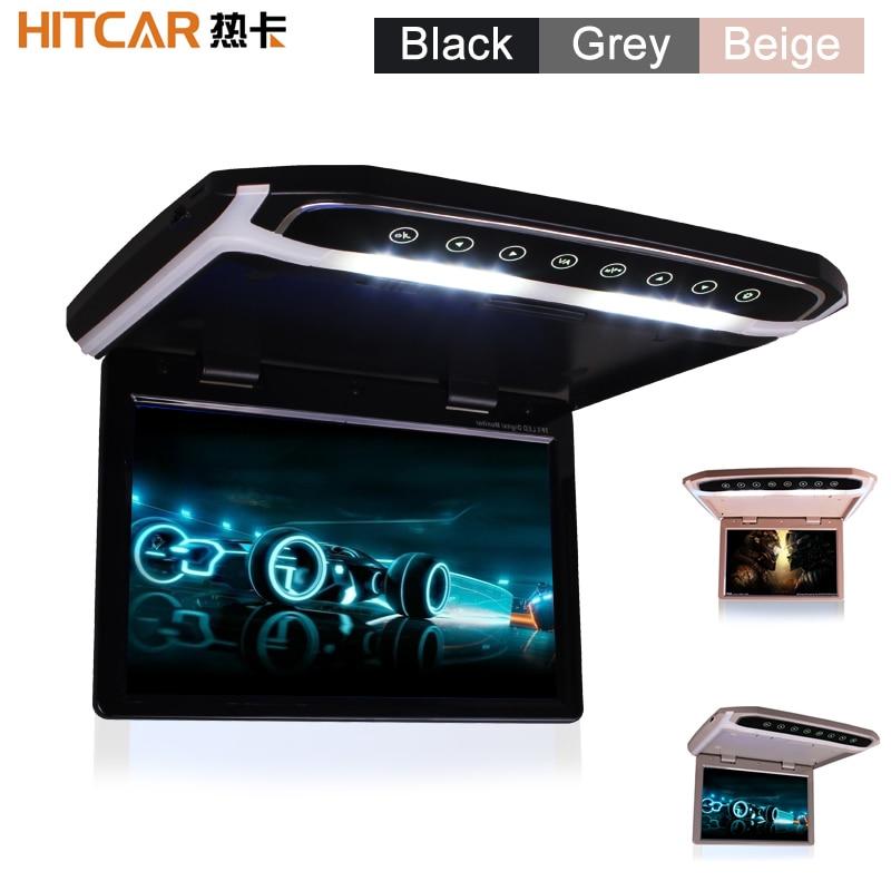 شاشة LED عالية الدقة مقاس 10 و 12 و 15 بوصة ، مشغل فيديو MP4 و MP5 ، مع مدخل HDMI و SD و AV ، بطاقة 16 جيجابايت وقارئ