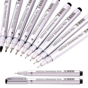 16pcs/lot drawing syringe pen waterproof paint sketch marker pen art design hook line pen hand-painted calligraphy stationery