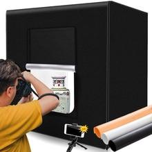 M80 LED Lightbox 80*80*80cm Portable Photo Studio lumière tente pliante Photo boîte 32 pouces Softbox pour produit photographie jouet Shoot