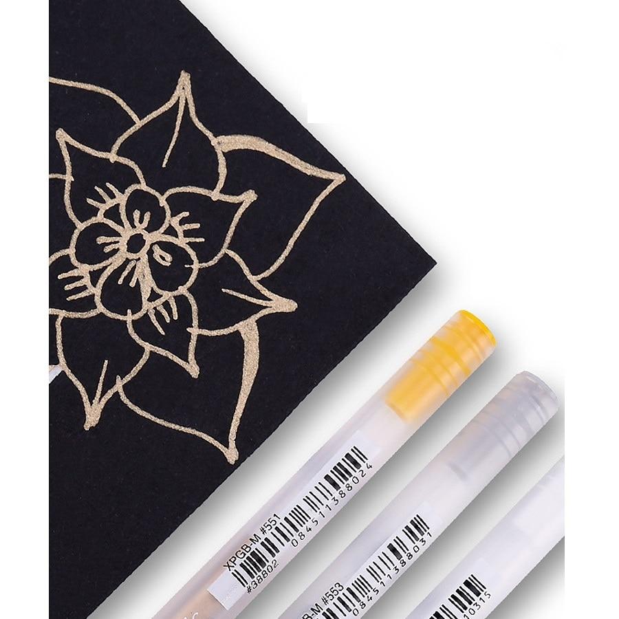 Sakura Marcador Marcador de Tinta de Caneta de Ouro Branco Cor Prata Rolo Gelly Desenho Arte Japão Papelaria Material Escolar Escritório H6499