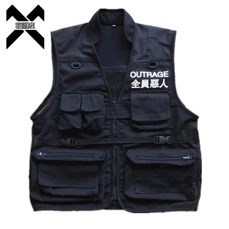 Американский размер жилет с карманами для мужчин 2019 осенне-летнее Мужское пальто куртка без рукавов Повседневная мужская жилетка DG153