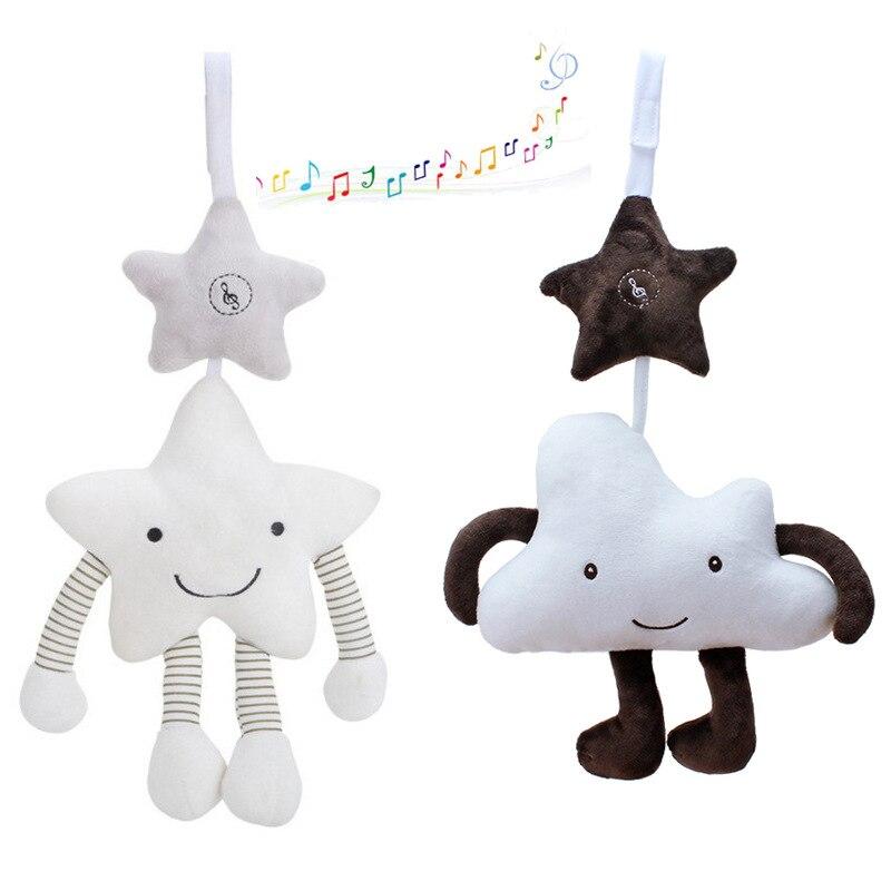 Детские игрушки-погремушки для детей 0-12 месяцев, детские игрушки, подвесная коляска, милая детская кроватка с облаком и звездой, мобильный к...