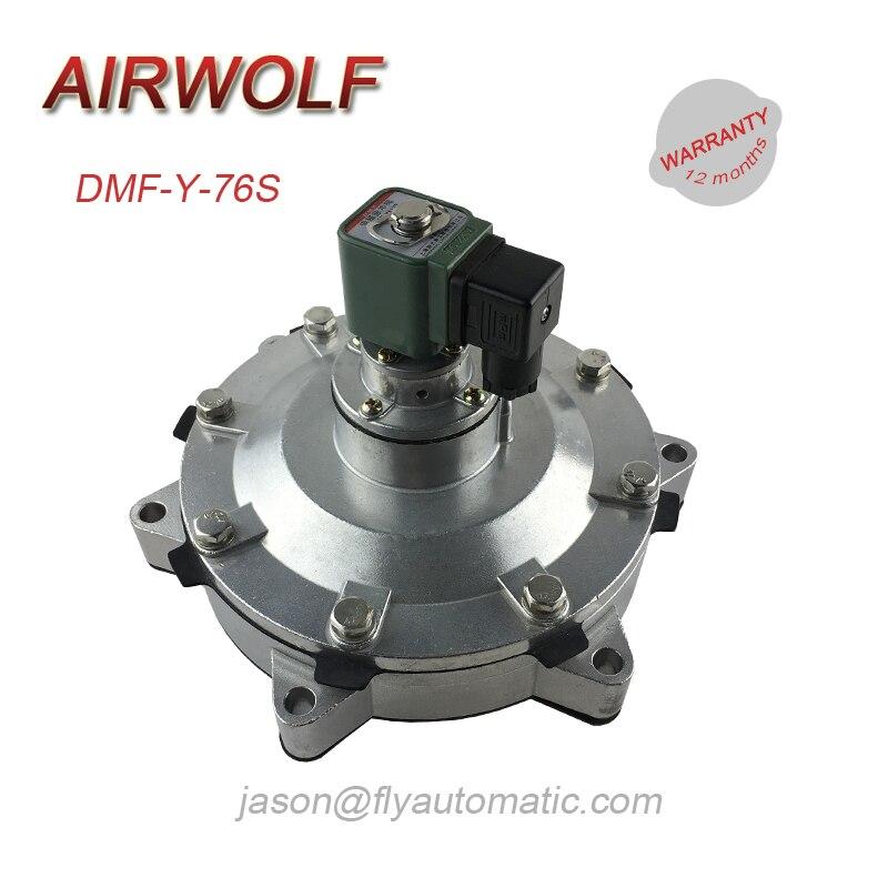 """Válvula de solenoide de aire incrustada BTEC DMF-Y-76S válvula de solenoide de pulso de aleación de aluminio de 3"""""""