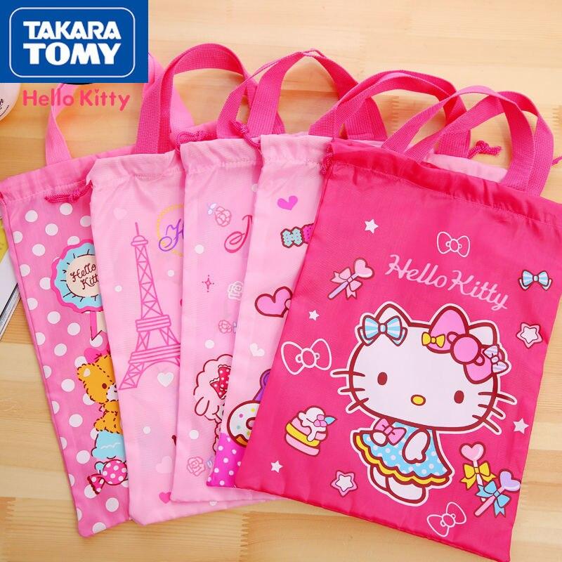 printio сумка hello kitty Женская сумка на шнурке TAKARA TOMY, новинка 2021, с милым мультяшным рисунком Hello Kitty, сумка для путешествий