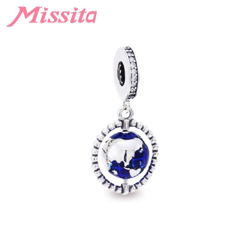 MISSITA Mini cuentas de globo fit Pandora pulseras collares para mujeres joyería fabricación de accesorios de joyería