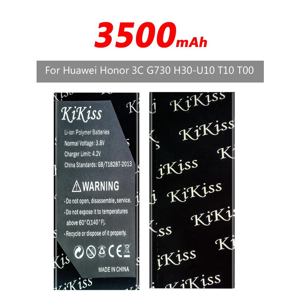 Kikiss 3500mAh HB4742AORBC recargable de la batería del teléfono para Huawei Honor 3c G730 G740 H30-T00 H30-T10 H30-U10 batería + pista NO