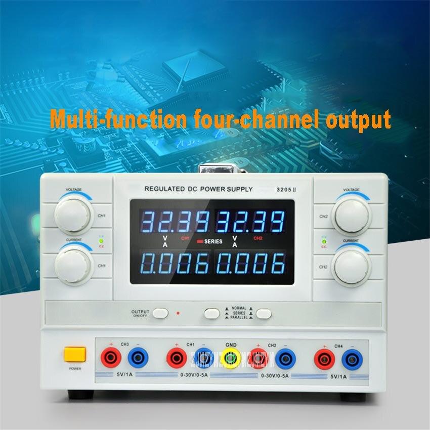 مزود طاقة مختبر 3205II ، دقة عالية ، تيار مستمر ، منظم ، شحن ، اختبار الشيخوخة ، مصدر طاقة تيار مستمر AC110V/220V 300W