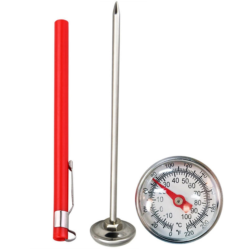 Stainless Steel Soil Thermometer Stem Read Dial Display 0-100 Degrees Celsius Range For Ground Compost Garden Supplies