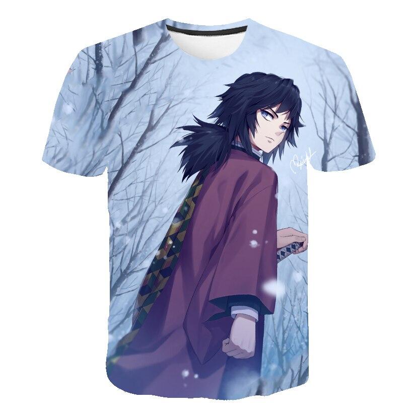 Nueva camiseta de manga corta 3D para jóvenes de verano, cuchillo fantasma para niños, camiseta Linda informal para niños