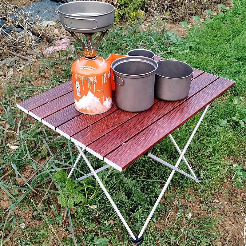طاولة تخييم قابلة للطي من الألومنيوم ، طاولة تخييم محمولة قابلة للطي ، خفيفة الوزن ، 3 أحجام ، مع حقيبة حمل للتنزه