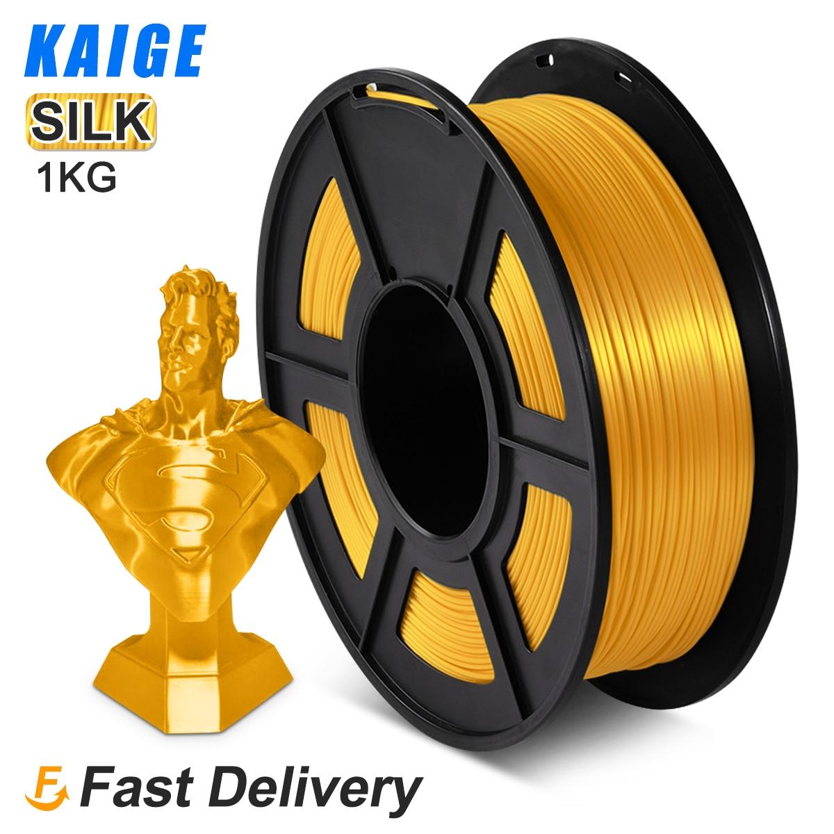 Filamento de Seda do Pla Textura de Seda 1kg para Impressoras Filamento Ouro Recargas Material Biodegradável Superfície Brilhante 3d 1.75mm Luz