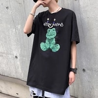 men casual o neck tee shirts plus size fashion couple high streetwear summer beach tshirt male 2021 new large size high quality